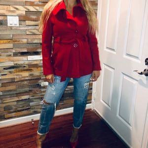 Fall Coat, short, red, warm, GUESS